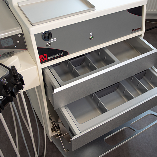 Maximum instrument and accessory storage space